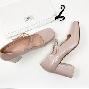 MNZ Pink Patent Leather Mary Janes (New)